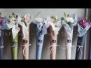 Упаковка букета/подарка. Конус из бумаги./Сone of paper, wrapping a bouquet