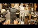 Лепка обрубовки торса 9 Обучение скульптуре Фигура 14 серия
