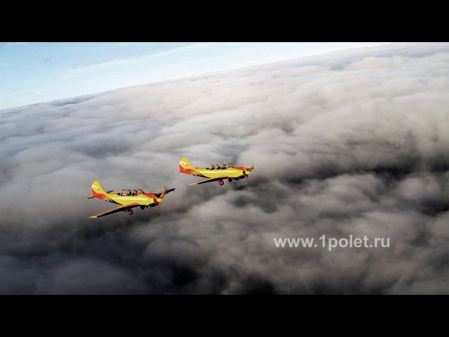 Above the clouds. Pair of Yak-52 / Над облаками. Пара Як-52