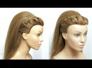 Headband Hairstyle With Puff For Long Hair Tutorial
