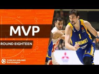 Turkish Airlines EuroLeague Regular Season Round 18 MVP: Alexey Shved, Khimki Moscow region