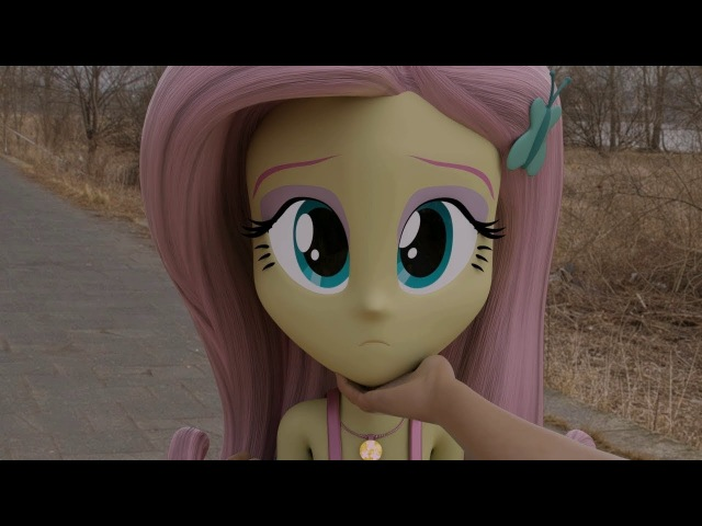 Meeting Fluttershy in Real World! 3D Animation