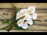 ABC TV How To Make Calla Lily Paper Bouquet Flower From Crepe Paper - Craft Tutorial