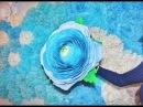 Большой цветок для фотосессии из гофро бумаги.