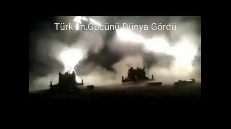 Afrin TSK Füzeler ile Ağır Bombardıman Anları ZeytinDalıHarekatı Operasyon ZeytinDalı