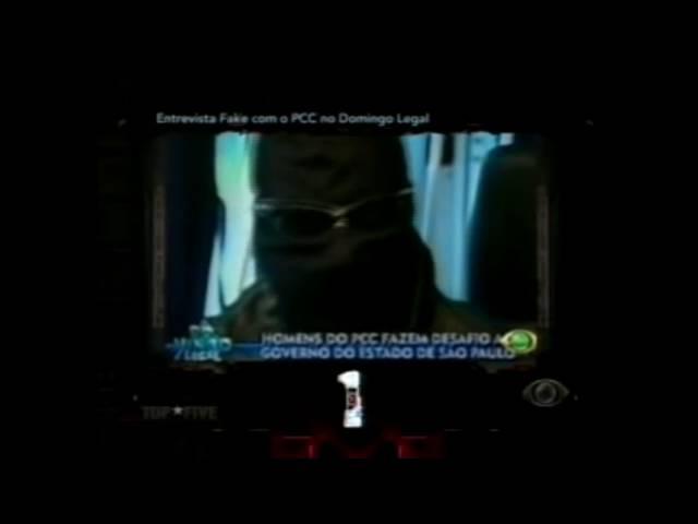 Trecho da falsa entrevista do PCC ao Domingo Legal (2003)