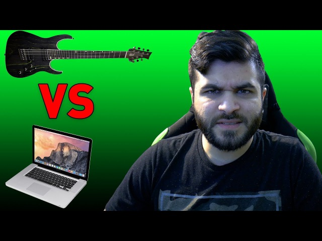 Real Guitarist vs Computer Guitarist | Andrew Baena