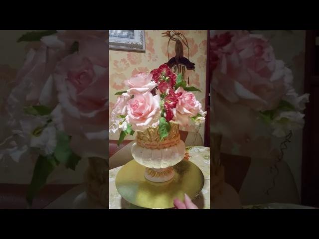 видеоурок популярные сахарные цветы уйшаг