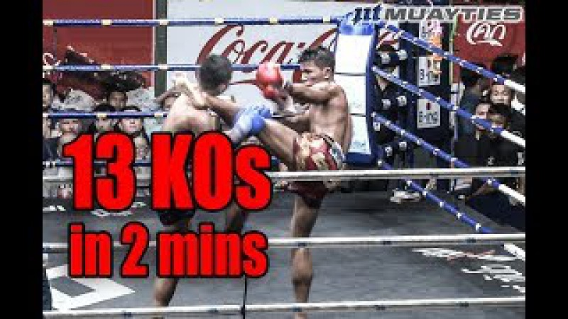 Muay Thai K.O. - 13 Muaythai Knockouts in 2 MINUTES!