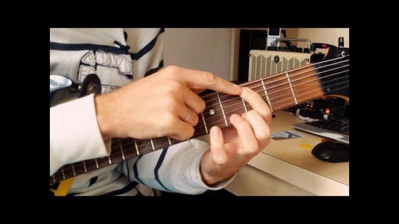 Еще один урок по технике легато на гитаре, в этот раз вид вблизи