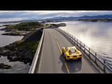 The Ford GT drives the iconic Atlantic Ocean Road in Norway (+Arctic Circle Raceway)