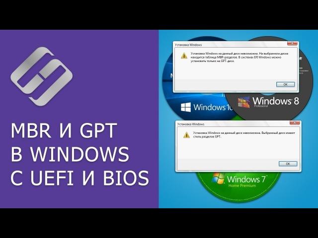 Преобразование MBR и GPT дисков: можно ли установить Windows на GPT, MBR диск в EFI и BIOS? 📀💻 🛠️