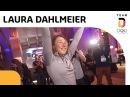 Ankunft von Olympiasiegerin Laura Dahlmeier im deutschen Haus 🥇 Team Deutschland
