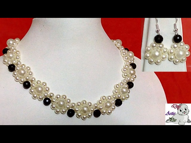 14 How to Make Pearl Beaded Necklace || Diy || Jewellery Making