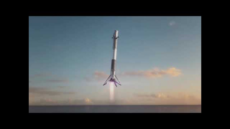 Mars Flight Animation - SpaceX Falcon Heavy (Tesla Roadster)