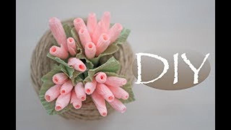 Цветочки-ягодки из бумаги и букет к 8 марта DIY Tsvoric