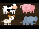 Learning Animals Names and Sounds for kids in English