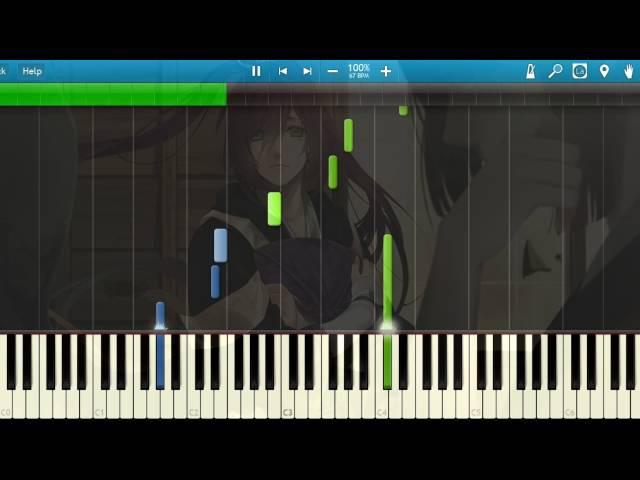 [Synthesia] Namida/涙 (Piano) [Ken ga Kimi/剣が君)