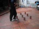 Martial arts wing chun Vĩnh Xuân bộ pháp với gạch xếp ứng dụng chiến đấu