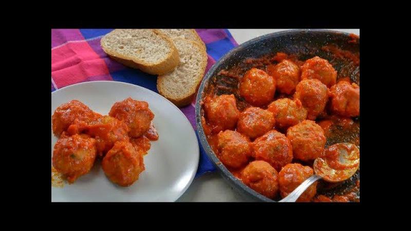 POLPETTE AL SUGO Ricetta Facile - Easy Meatballs Recipe