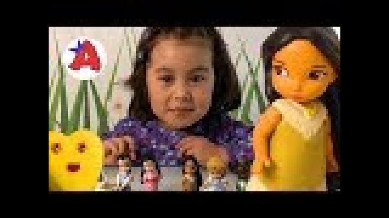 Ангела и принцессы диснея в зефирном пластилине