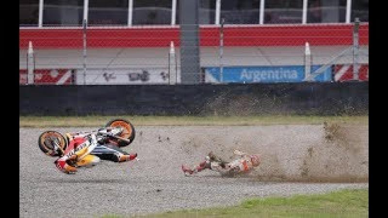 MotoGP 2017 All Crashes Compilation