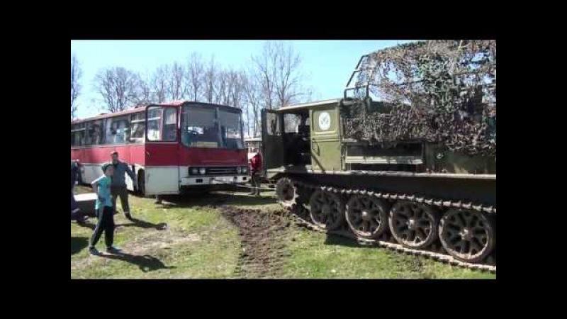 Ikarus 250 tõmbamine ATS-59G-ga