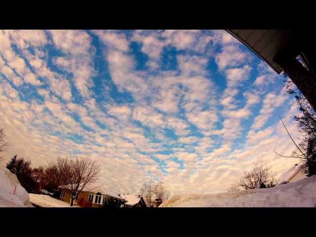 2018 Timelapse Ionized Sky Artificial Stratus Alternate Lines and Cirrus 14 Feb