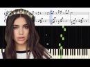 Dua Lipa - IDGAF - Piano Tutorial SHEETS