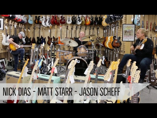 Jam Session! Matt Starr, Jason Scheff Nick Dias at Norman's Rare Guitars