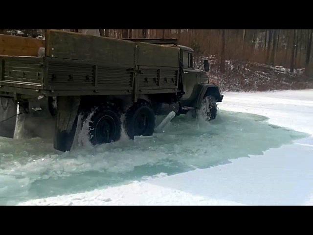 ЗИЛ-131 Снег и вода для него ерунда! Этой машине дороги не нужны ей главное указать направление!