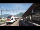 Вид из кабины машиниста Швейцария
