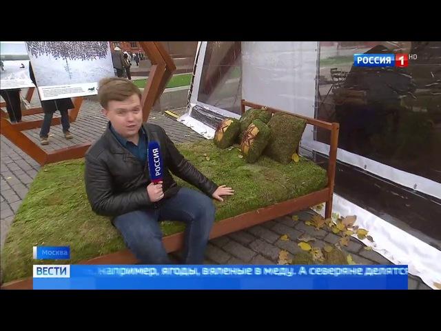 Вести-Москва • Сезон 1 • Кровать из мха: в Москве показали последние тенденции экомоды