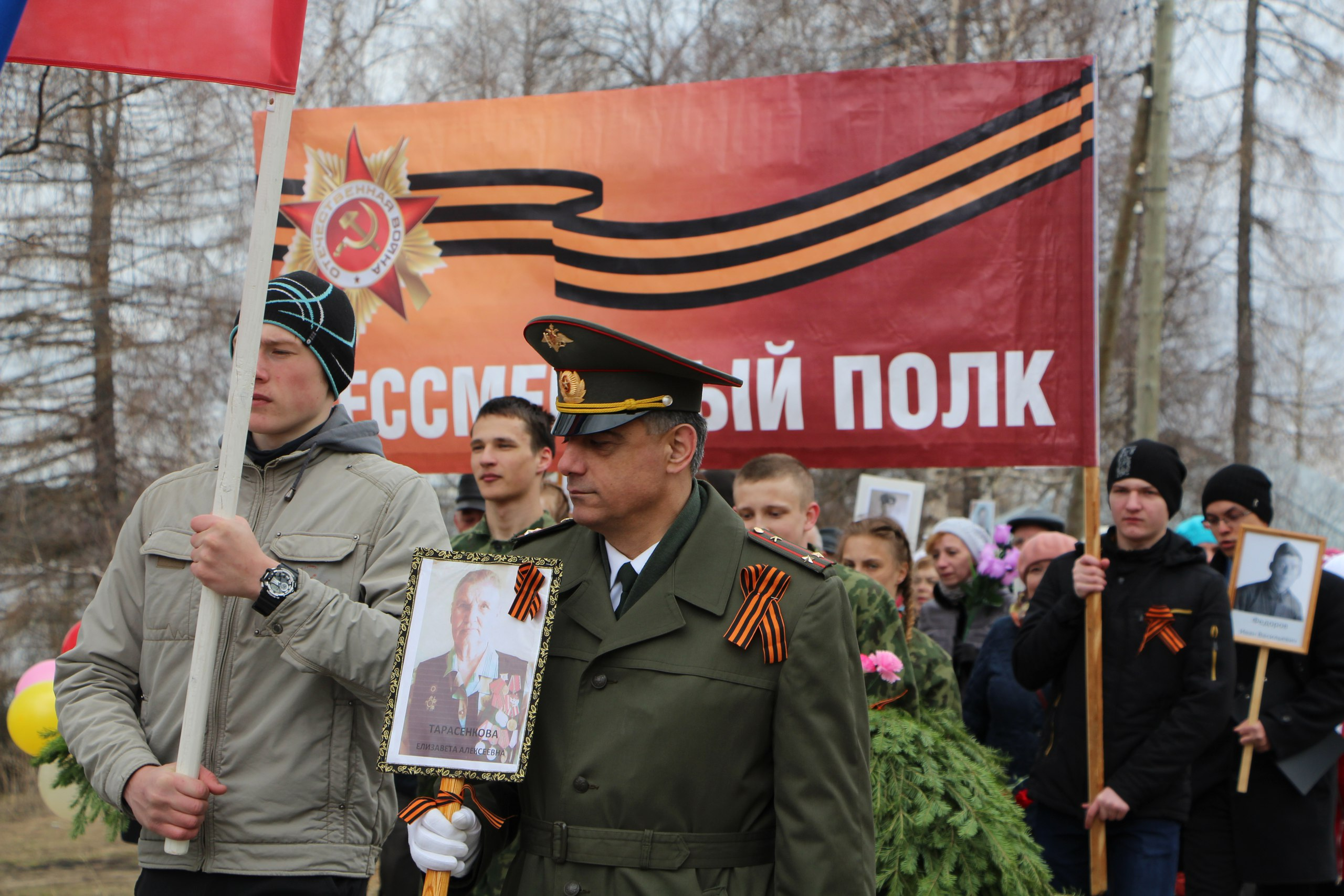 Колонна Бессмертного полка прошлась по улицам райцентра Удорского района