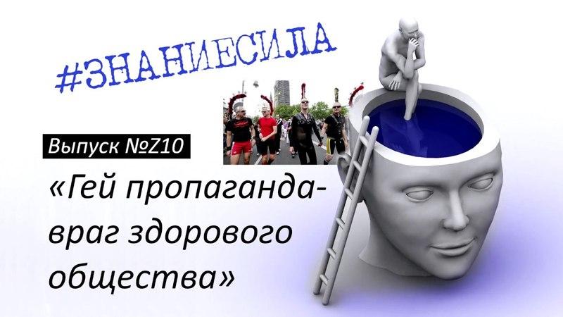 №Z10 ГЕЙ ПРОПАГАНДА - ВРАГ ЗДОРОВОГО ОБЩЕСТВА - серия Знание-Сила