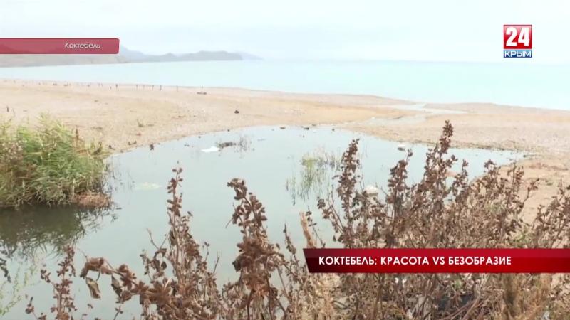 SOS Полоса препятствий = пляж в центре Коктебеля Крымский вице премьер Павел Королёв разбирался в проблемах ПГТ
