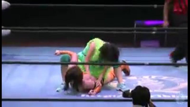 4. {Ice Ribbon} Akane Fujita Tsukasa Fujimoto vs. Kyuri Ryo Mizunami (8--2--15)