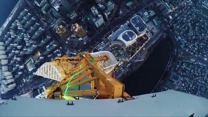 Русские профессиональные руферы забрались на высоту 555 метров