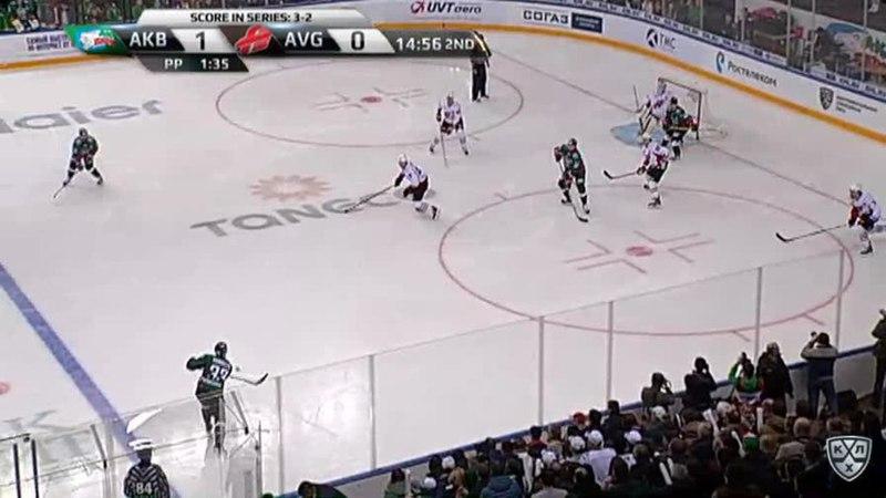 Моменты из матчей КХЛ сезона 17/18 • Гол. 2:0. Секач Иржи (Ак Барс) в касание с пятака 19.03