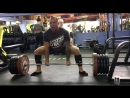 Deadlift 230kg/507lb 4 sets 3 reps with support Bear gear