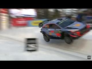 Сумасшедший Mega JUMP ? Терри Невилля на трамплине Колинз Крест - Rally Sweden 2018 ????☃️