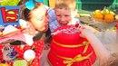 Детский Candy Bar конурсы Киндер Сюрпризы шарики Орибиз лопаем шарики на ДЕТСКИЙ ДЕНЬ РОЖДЕНИЯ 3 х э