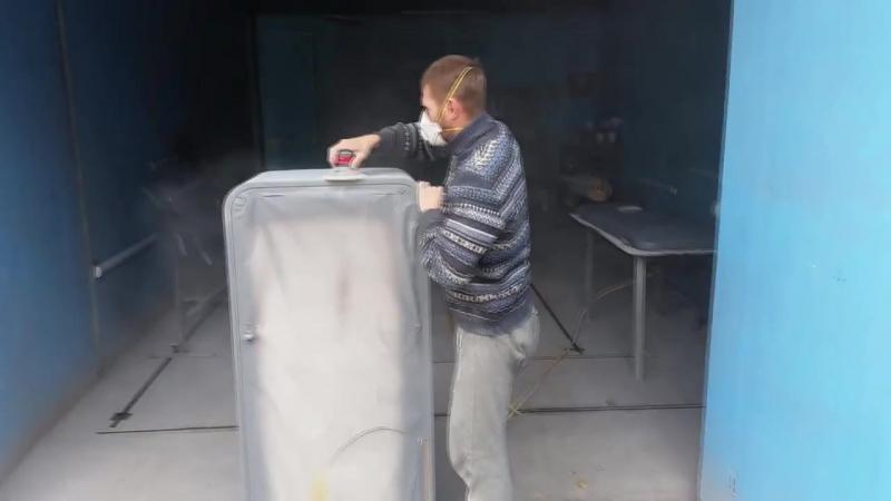 Кузовной ремонт холодильника ЗИЛ 1965 года :)