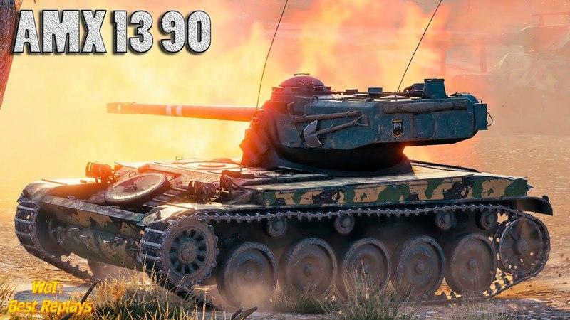 AMX 13 90 : Красиво Растащил 1vs5 * 6000 урона 10 фрагов , Колобанов