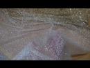 сетка-стрейч блестящая айвори