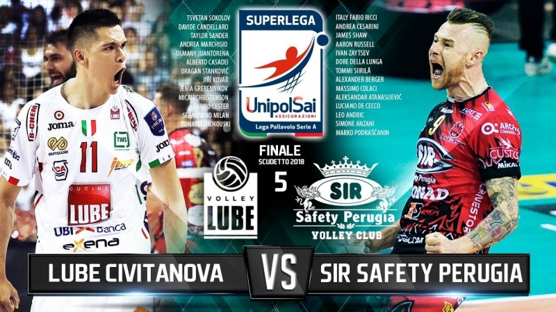 Sir Safety Perugia vs Lube Civitanova Finale Scudetto 2018 Best Volleyball Actions