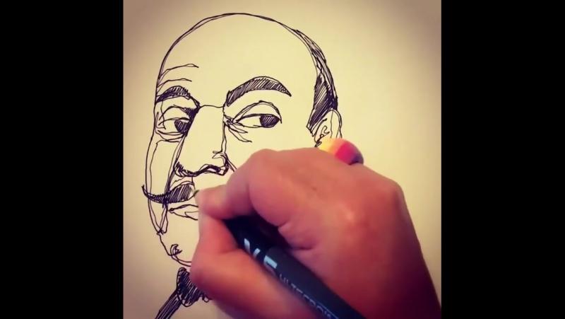 Как нарисовать Эркюля Пуаро. Кэти Фрост.