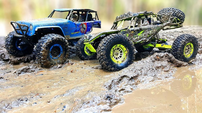 RC Trucks MUD OFF Road WlToys 10428 and Axial SCX10 Jeep Wrangler Rubicon — RC Extreme Pictures