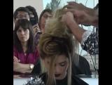 Высокая причёска