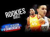 Donovan Mitchell vs Kyle Kuzma ROOKIES Duel 2018.4.3 - Each With 26 Pts! | FreeDawkins